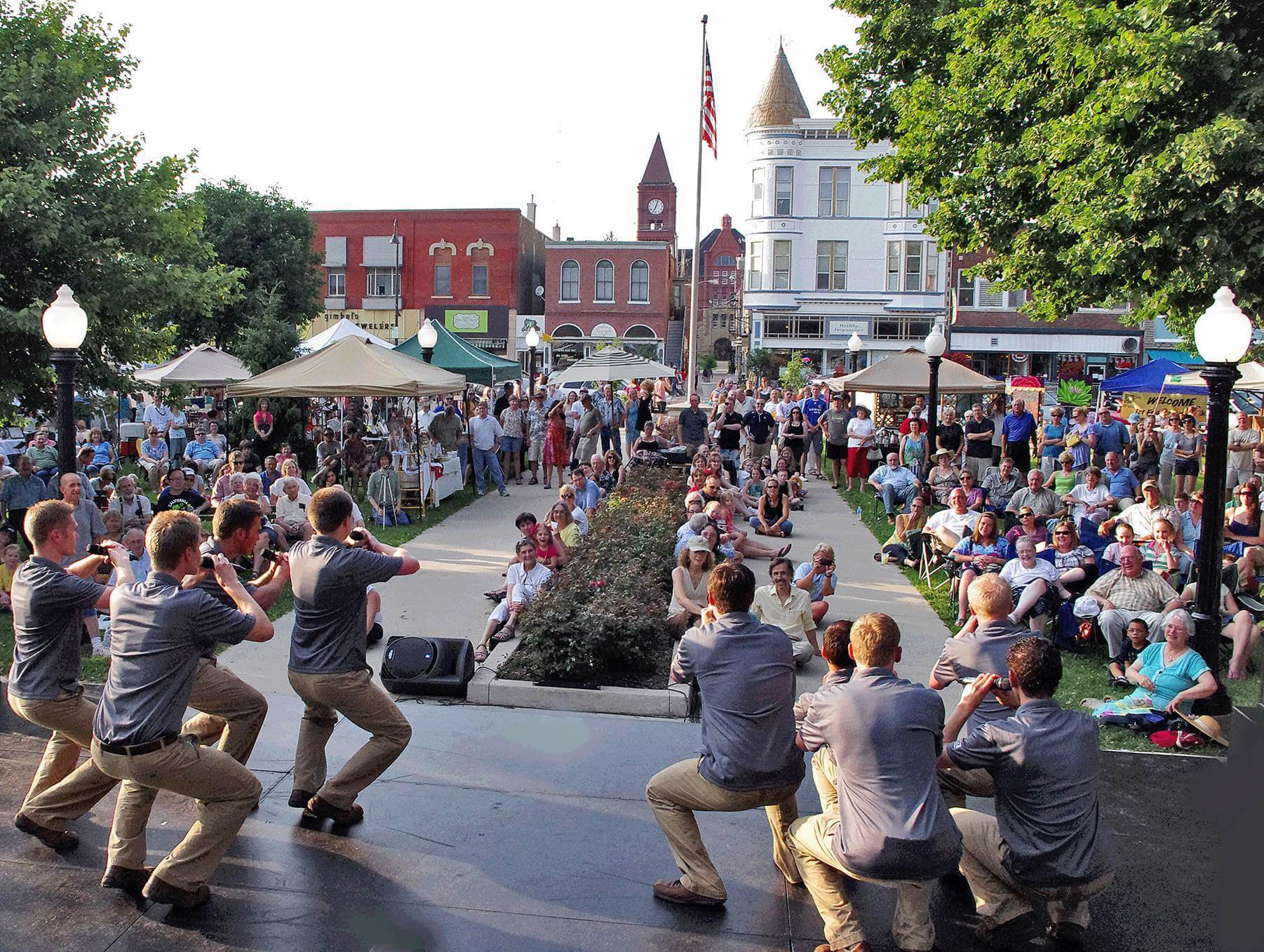 Activities in the downtown square