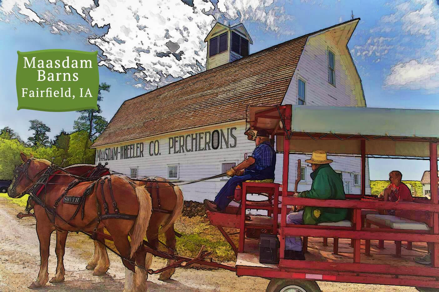 Maasdam Barns Fairfield, Iowa