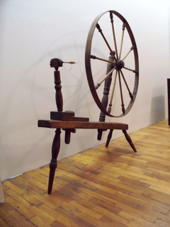 Spinning Wheel on Display at the Carnegie Museum in Fairfield
